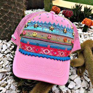 Gorra rosada para mujer
