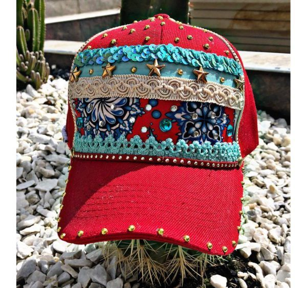 Gorra Roja para mujer