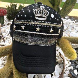 Gorra Negra para Mujer decorada