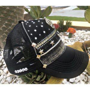 Gorra negra para mujer