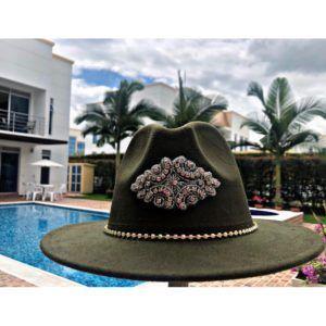 Sombrero Fedora decorado para mujer