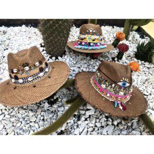 sombrero para mujer con adornos de moda vaquero agudeño playa artesanal flores sol elegante decorado vueltiao fiesta cintas barranquilla bello cabalgata elegua bisuteria Ibagué Manizales Armenia bogota