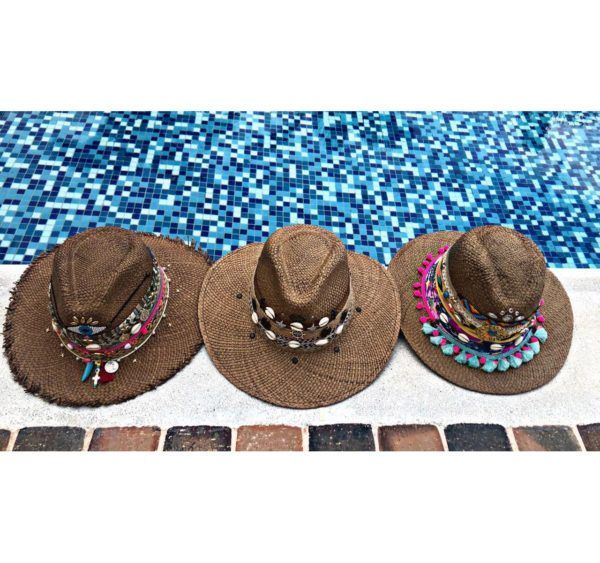 sombrero para mujer decorado playa sol elegante vaquero cintas decorado artesanal de moda bisuteria flores fiesta elegua cucuta tejido cabalgata vueltiao agudeño Valledupar Neiva buga colombia