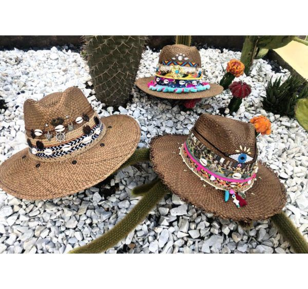 sombrero para mujer decorado playa agudeño decorado cintas vueltiao bisuteria flores elegante de moda sol fiesta elegua soacha tejido cabalgata artesanal vaquero Villavicencio Pereira Pasto medellin
