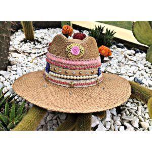 sombrero decorado para mujer decorado flores sol playa vueltiao elegante elegua cintas agudeño vaquero cabalgata bisuteria Manizales Armenia fiesta artesanal de moda bogota barranquilla bello Ibagué