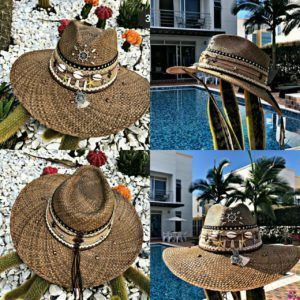 sombrero decorado para mujer Santa Marta Montería elegua vaquero agudeño decorado playa flores cintas elegante bisuteria sol bisuteria cali fiesta artesanal cartagena bucaramanga cabalgata de moda vueltiao