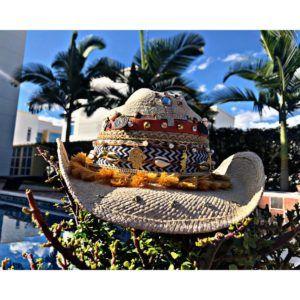 sombrero decorado para mujer sol elegua decorado cintas vaquero playa agudeño de moda elegante flores vueltiao fiesta artesanal bisuteria Neiva buga colombia Valledupar cucuta soledad cabalgata