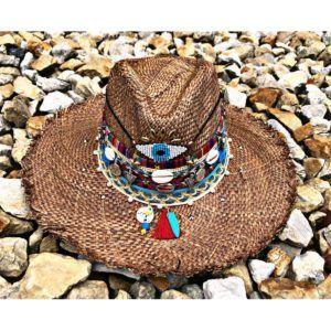 sombrero con adornos para mujer decorado vaquero elegua de moda vueltiao flores artesanal playa elegante bisuteria cabalgata agudeño soacha tejido fiesta cintas sol Pereira Pasto medellin Villavicencio