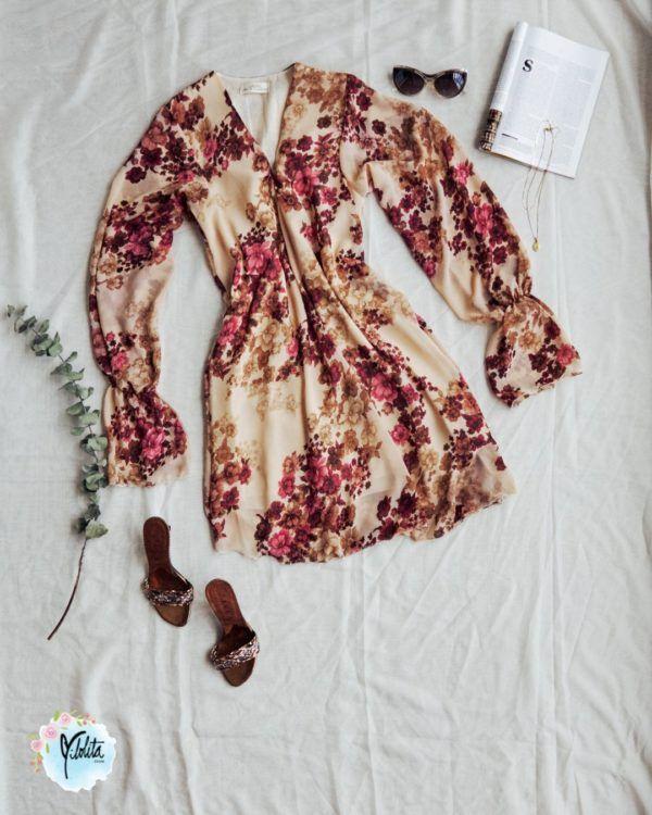Vestido corto con Flores para mujer