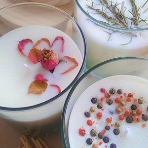 Vela vegetal en Cera de Palma