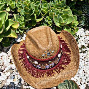 sombrero para mujer con adornos playa elegua elegante decorado vaquero cintas artesanal de moda sol agudeño bisuteria vueltiao flores Pereira Armenia bogota Ibagué cartagena bucaramanga