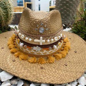 sombrero con adornos para mujer fiesta cabalgata elegante flores sol de moda elegua playa decorado bisuteria artesanal agudeño vaquero vueltiao cintas Neiva buga colombia Valledupar cucuta tejido
