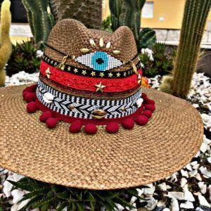 sombrero para mujer con adornos vaquero flores elegante cintas playa agudeño artesanal decorado sol bisuteria de moda vueltiao elegua colombia cucuta tejido Valledupar Neiva buga