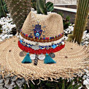 sombrero para mujer con adornos cabalgata fiesta playa sol bisuteria de moda vaquero flores agudeño decorado cintas elegua vueltiao artesanal elegante medellin soacha tejido Villavicencio Pereira Pasto