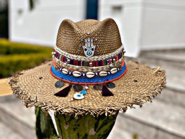 sombrero con adornos para mujer cabalgata fiesta vueltiao bisuteria sol flores agudeño decorado de moda playa vaquero elegante elegua cintas artesanal bogota cartagena bucaramanga Ibagué Pereira Armenia