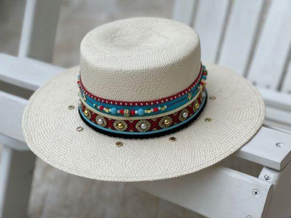 Sombrero Cordobés decorado para Mujer 0081   Milolita Store - Tienda Virtual  %count(title)%